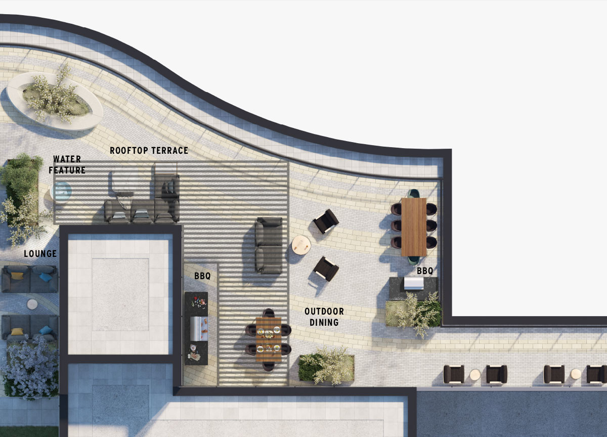 Perch - Amenity Rooftop Floorplan
